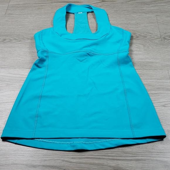 lululemon athletica Tops - Lululemon Womens Turquoise Active Top size 6